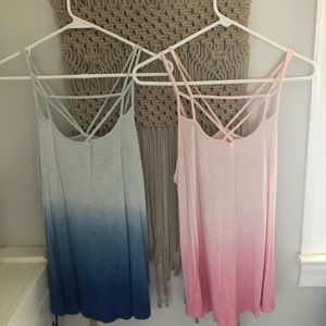 TWO ombré tank tops